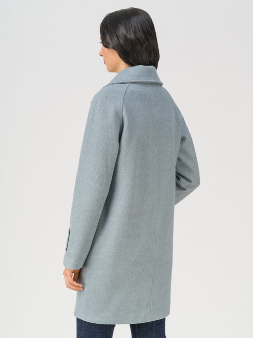 Текстильное пальто артикул 25711366/40 - фото 4