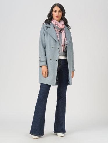 Текстильное пальто 35% шерсть, 65% полиэстер, цвет голубой, арт. 25711366  - цена 6990 руб.  - магазин TOTOGROUP