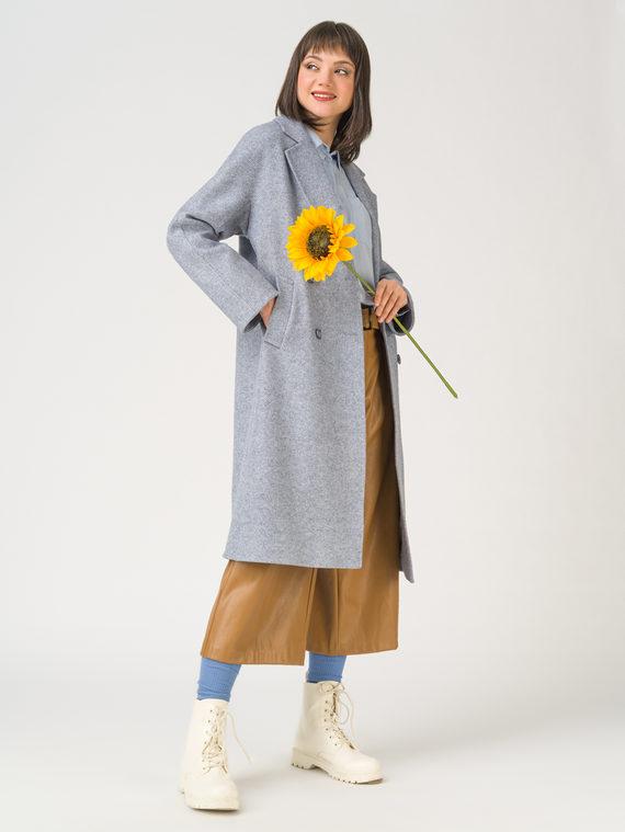 Текстильное пальто 65% хлопок , 35% полиэстер, цвет голубой, арт. 25711427  - цена 5890 руб.  - магазин TOTOGROUP