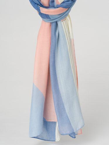 Шарф 100% вискоза, цвет голубой, арт. 25711552  - цена 940 руб.  - магазин TOTOGROUP