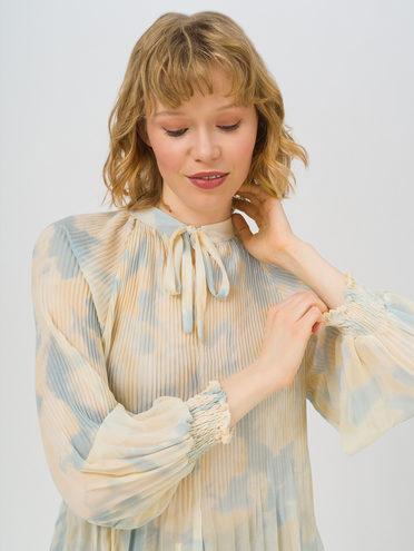 Блуза 80% хлопок, 20% п\э, цвет голубой, арт. 25711704  - цена 1260 руб.  - магазин TOTOGROUP