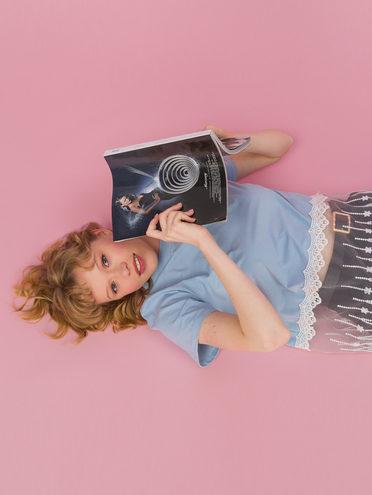 Блуза 80% хлопок, 20% п\э, цвет голубой, арт. 25711705  - цена 890 руб.  - магазин TOTOGROUP
