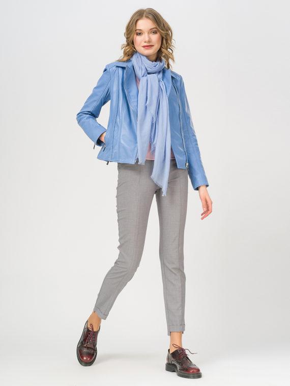 Кожаная куртка кожа , цвет голубой, арт. 25802489  - цена 10590 руб.  - магазин TOTOGROUP