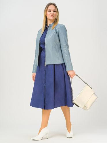 Кожаная куртка кожа, цвет голубой, арт. 25802491  - цена 11990 руб.  - магазин TOTOGROUP