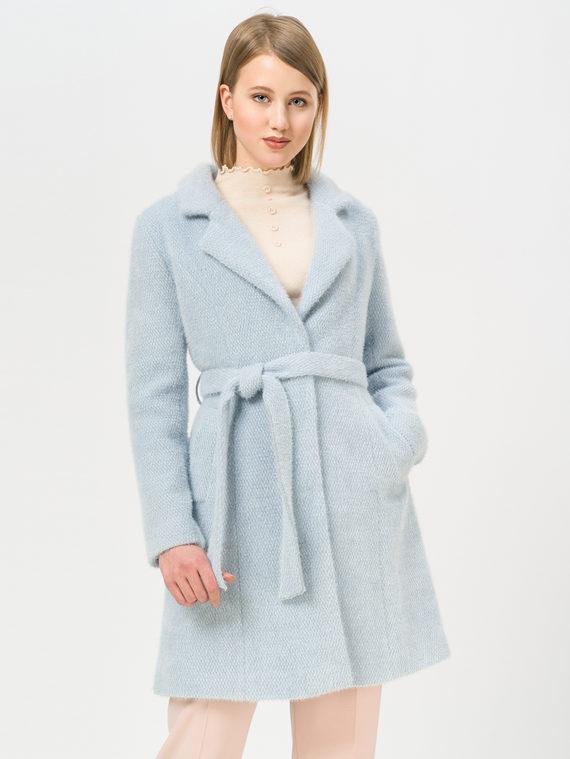 Текстильное пальто 35% шерсть, 65% полиэстер, цвет голубой, арт. 25809966  - цена 3990 руб.  - магазин TOTOGROUP