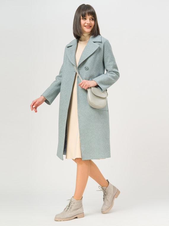 Текстильное пальто 35% шерсть, 65% полиэстер, цвет голубой, арт. 25809982  - цена 5590 руб.  - магазин TOTOGROUP