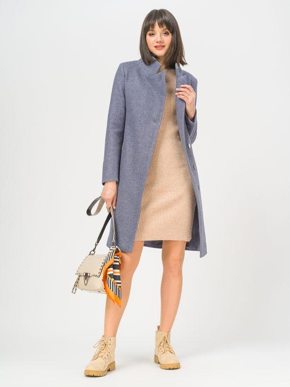 Текстильное пальто 35% шерсть, 65% полиэстер, цвет голубой, арт. 25809987  - цена 6990 руб.  - магазин TOTOGROUP