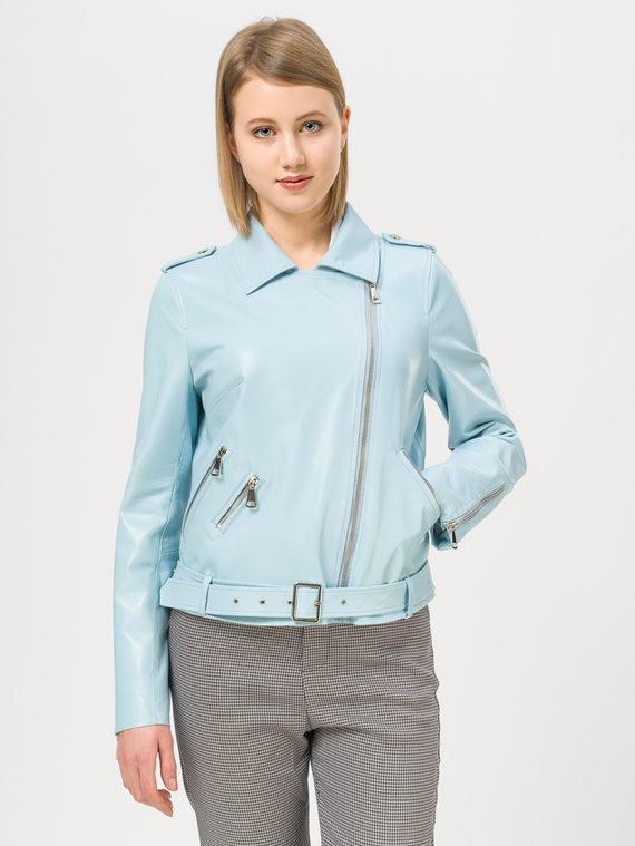Кожаная куртка кожа , цвет голубой, арт. 25810062  - цена 16990 руб.  - магазин TOTOGROUP