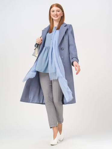 Текстильное пальто 35% шерсть, 65% полиэстер, цвет голубой, арт. 25810094  - цена 6990 руб.  - магазин TOTOGROUP