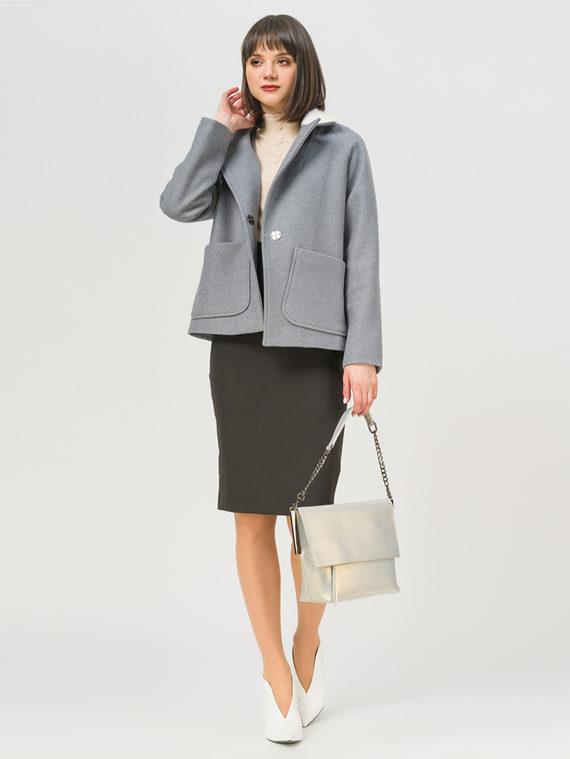 Текстильная куртка 35% шерсть, 65% полиэстер, цвет голубой, арт. 25810104  - цена 5890 руб.  - магазин TOTOGROUP