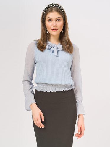 Блуза 95% полиэстер 5% эластан, цвет голубой, арт. 25810254  - цена 840 руб.  - магазин TOTOGROUP