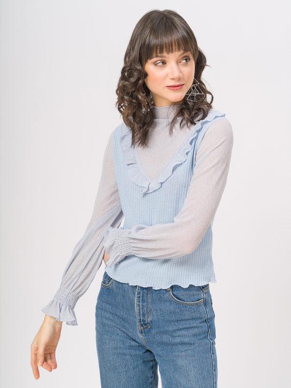 Блуза , цвет голубой, арт. 25810255  - цена 940 руб.  - магазин TOTOGROUP