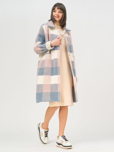 Текстильное пальто 100% полиэстер, цвет голубой, арт. 25810256  - цена 4740 руб.  - магазин TOTOGROUP