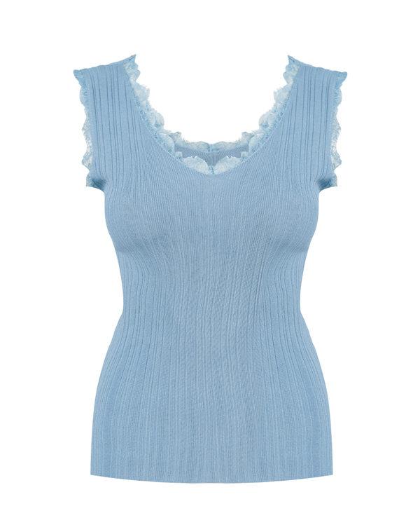 Джемпер 65%вискоза,35%нейлон, цвет голубой, арт. 25810550  - цена 990 руб.  - магазин TOTOGROUP