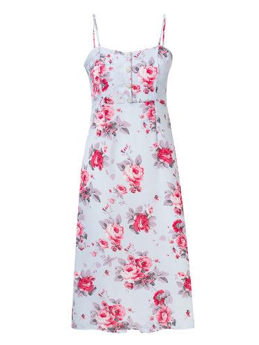 Платье 100% полиэстер, цвет голубой, арт. 25810558  - цена 1330 руб.  - магазин TOTOGROUP