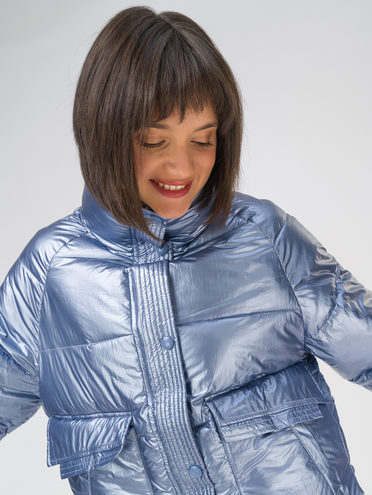 Пуховик 100% полиэстер, цвет голубой, арт. 25810701  - цена 3990 руб.  - магазин TOTOGROUP