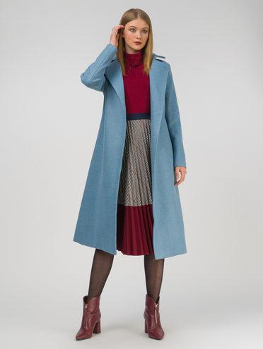Текстильное пальто 30% шерсть, 70% п.э, цвет голубой, арт. 25810725  - цена 8990 руб.  - магазин TOTOGROUP