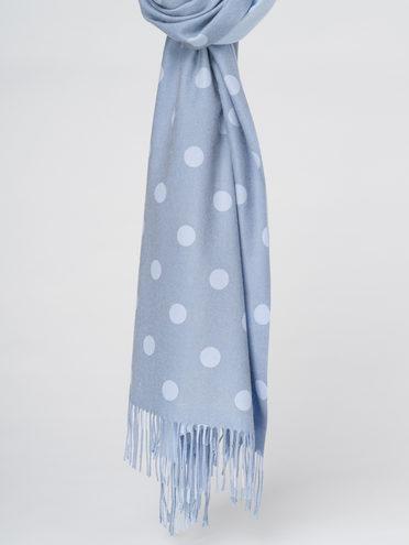 ШАРФ 70% кашемир 30% полиэстер, цвет голубой, арт. 25811010  - цена 1750 руб.  - магазин TOTOGROUP