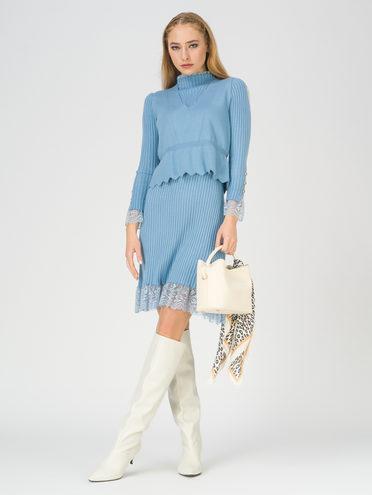 Платье 65% вискоза,35% нейлон, цвет голубой, арт. 25811166  - цена 1750 руб.  - магазин TOTOGROUP