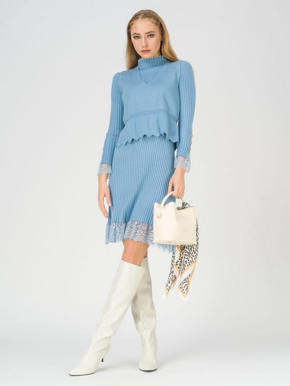 Платье 65% вискоза,35% нейлон, цвет голубой, арт. 25811166  - цена 3990 руб.  - магазин TOTOGROUP