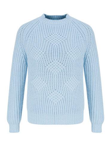 Джемпер 45% нейлон , 28% шерсть, 27% мохер, цвет голубой, арт. 25811334  - цена 2060 руб.  - магазин TOTOGROUP