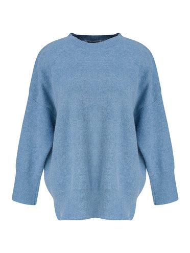 Джемпер 31% нейлон, 30% шерсть, 29% полиэстер , 10% тенсель, цвет голубой, арт. 25811335  - цена 2550 руб.  - магазин TOTOGROUP