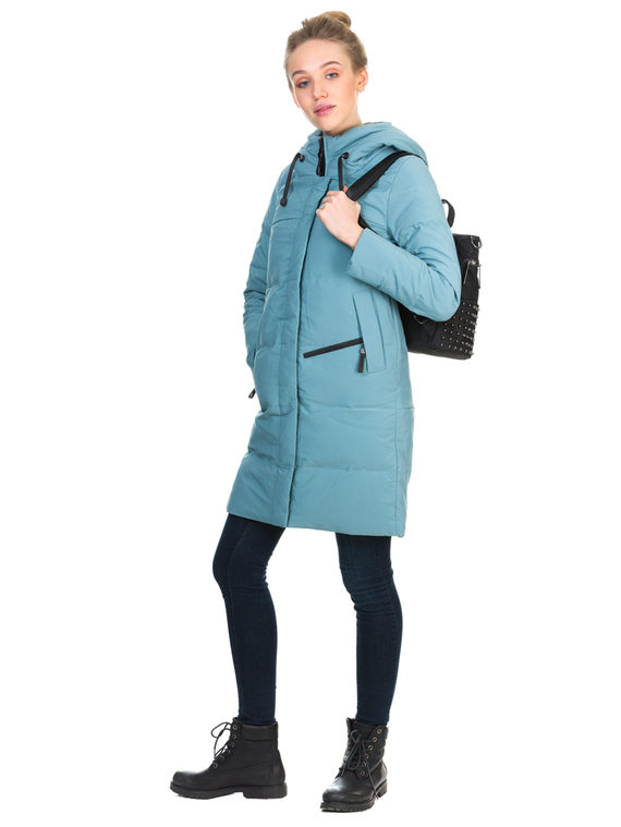 Пуховик текстиль, цвет голубой, арт. 25900954  - цена 4990 руб.  - магазин TOTOGROUP