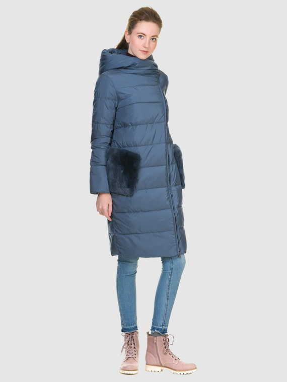 Пуховик текстиль, цвет голубой, арт. 25901069  - цена 8990 руб.  - магазин TOTOGROUP
