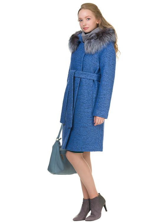 Текстильное пальто 70%шерсть,30%п,а, цвет голубой, арт. 25902701  - цена 6990 руб.  - магазин TOTOGROUP