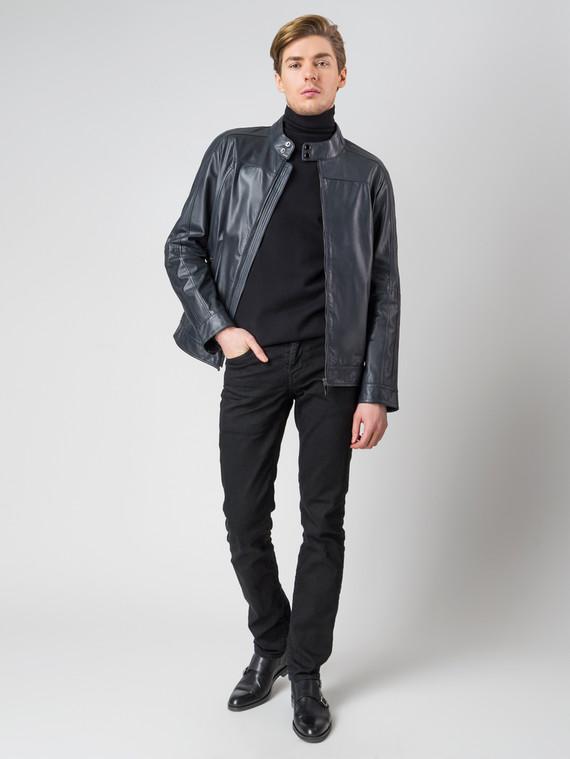 Кожаная куртка кожа коза, цвет темно-синий, арт. 26003406  - цена 9990 руб.  - магазин TOTOGROUP