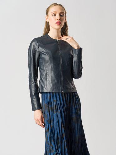 Кожаная куртка кожа , цвет темно-синий, арт. 26005518  - цена 8490 руб.  - магазин TOTOGROUP