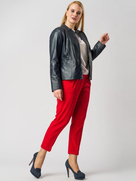 Кожаная куртка кожа , цвет темно-синий, арт. 26005534  - цена 11990 руб.  - магазин TOTOGROUP