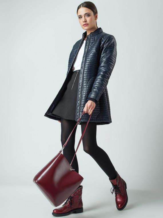 Кожаная куртка эко-кожа 100% П/А, цвет темно-синий, арт. 26005565  - цена 4490 руб.  - магазин TOTOGROUP
