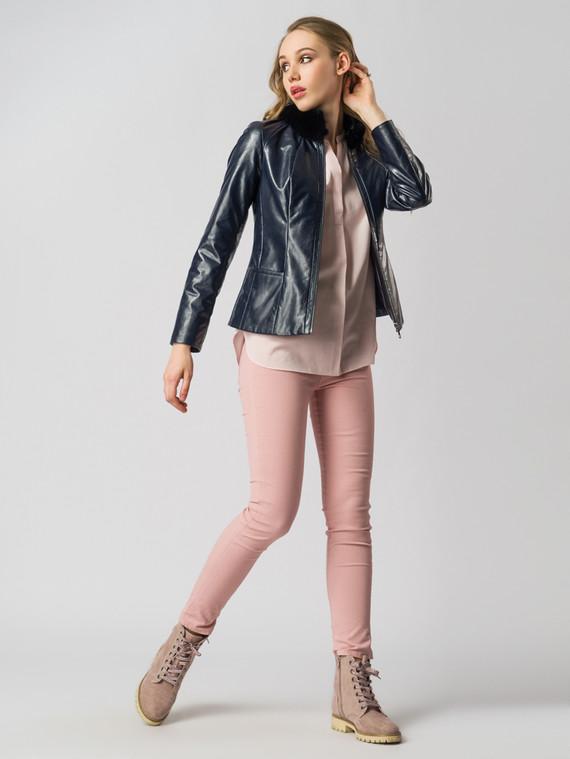 Кожаная куртка эко-кожа 100% П/А, цвет темно-синий, арт. 26005779  - цена 6630 руб.  - магазин TOTOGROUP