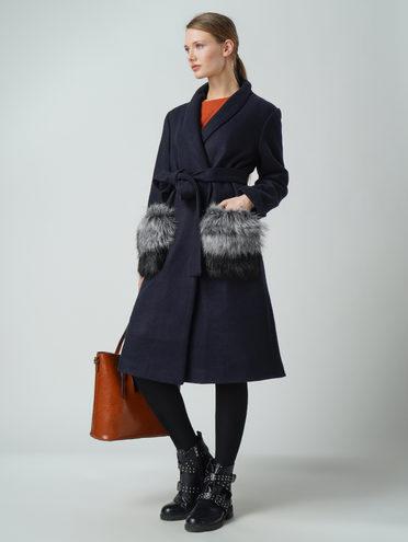 Текстильное пальто 30%шерсть, 70% п\а, цвет темно-синий, арт. 26005830  - цена 5290 руб.  - магазин TOTOGROUP