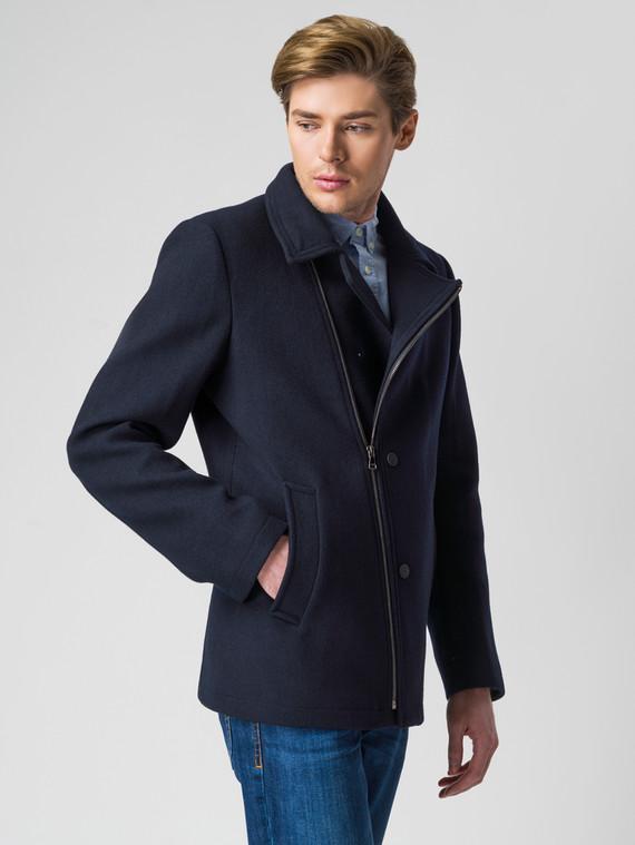 Текстильная куртка 51% п/э,49%шерсть, цвет темно-синий, арт. 26005945  - цена 4490 руб.  - магазин TOTOGROUP