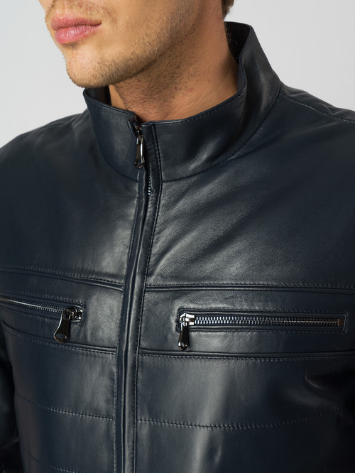 Кожаная куртка артикул 26005960/48 - фото 4