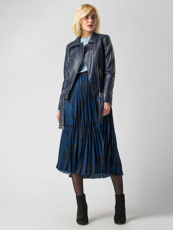 Кожаная куртка эко кожа флоттер, цвет темно-синий, арт. 26006134  - цена 3990 руб.  - магазин TOTOGROUP