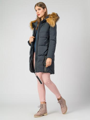 Пуховик текстиль, цвет темно-синий, арт. 26006288  - цена 14190 руб.  - магазин TOTOGROUP