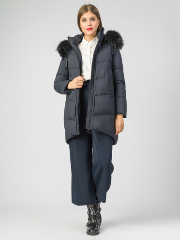Пуховик текстиль, цвет темно-синий, арт. 26006324  - цена 8990 руб.  - магазин TOTOGROUP