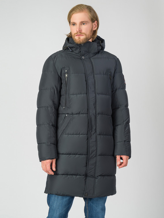 Пуховик текстиль, цвет темно-синий, арт. 26006329  - цена 5890 руб.  - магазин TOTOGROUP
