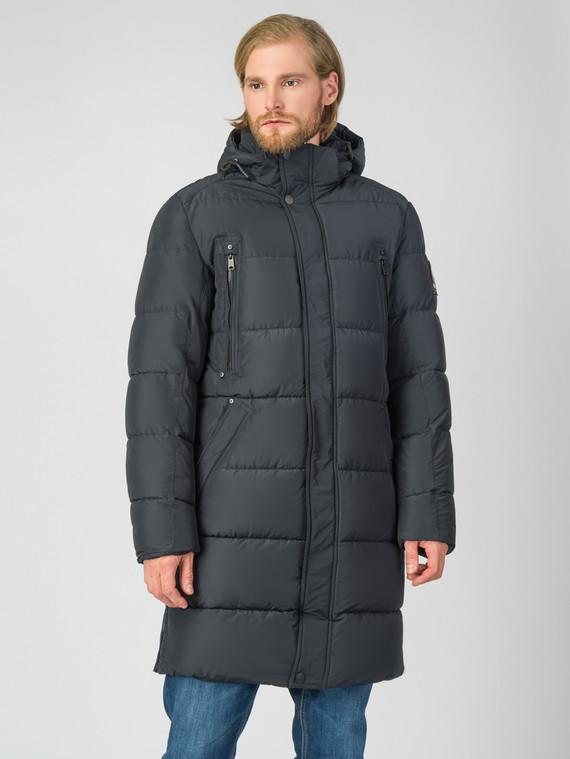 Пуховик текстиль, цвет темно-синий, арт. 26006329  - цена 3590 руб.  - магазин TOTOGROUP