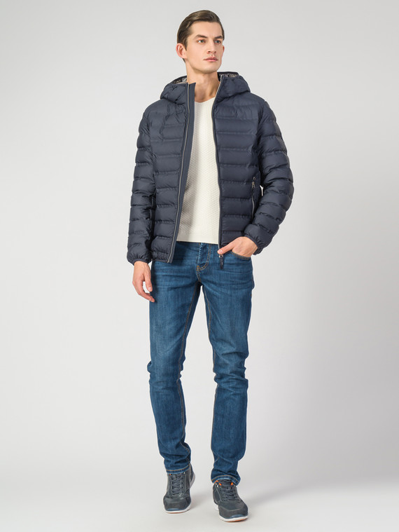 Пуховик текстиль, цвет темно-синий, арт. 26006338  - цена 3990 руб.  - магазин TOTOGROUP