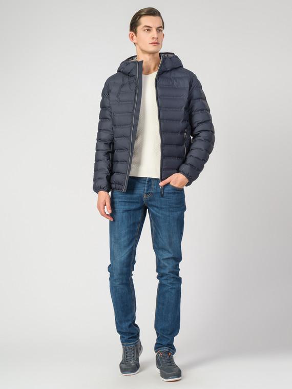 Пуховик текстиль, цвет темно-синий, арт. 26006338  - цена 4990 руб.  - магазин TOTOGROUP