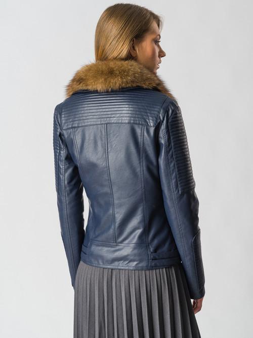 Кожаная куртка артикул 26006466/42 - фото 3