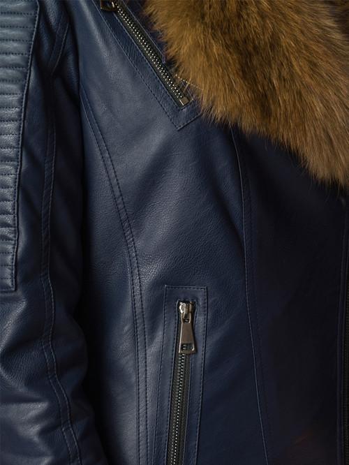 Кожаная куртка артикул 26006466/42 - фото 4