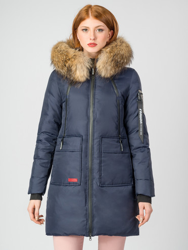 Пуховик текстиль, цвет темно-синий, арт. 26006497  - цена 8490 руб.  - магазин TOTOGROUP