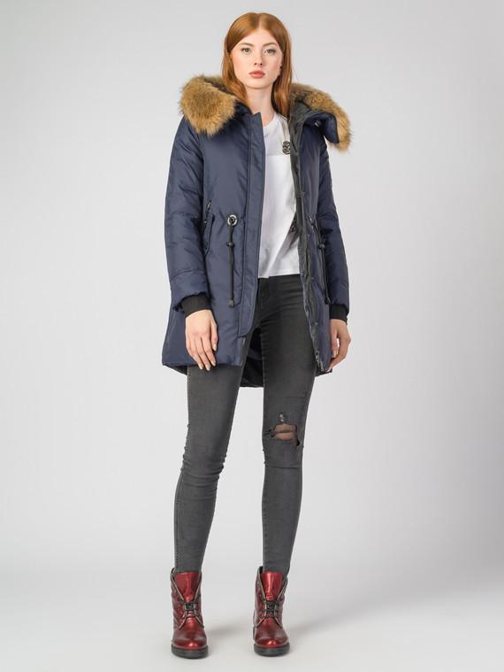 Пуховик текстиль, цвет темно-синий, арт. 26006498  - цена 5890 руб.  - магазин TOTOGROUP
