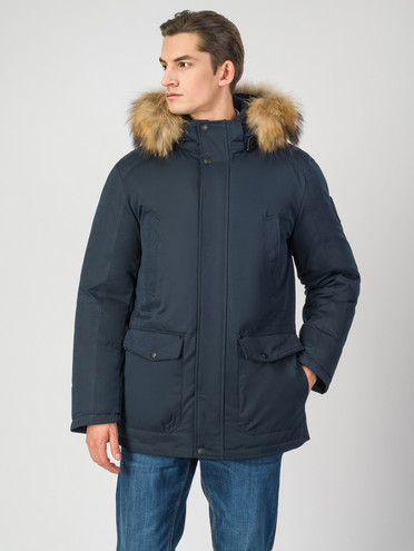Пуховик текстиль, цвет темно-синий, арт. 26006511  - цена 7490 руб.  - магазин TOTOGROUP