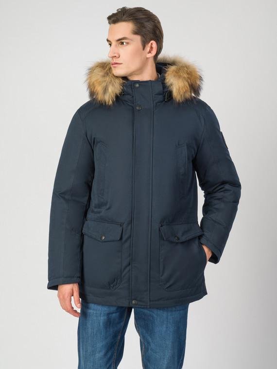 Пуховик текстиль, цвет темно-синий, арт. 26006511  - цена 6990 руб.  - магазин TOTOGROUP